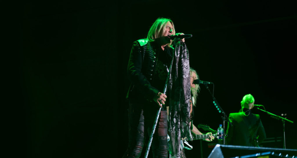 Def Leppard performing at the Toyota Amphitheatre for the Hard Rock Hotel & Casino Sacramento grand opening