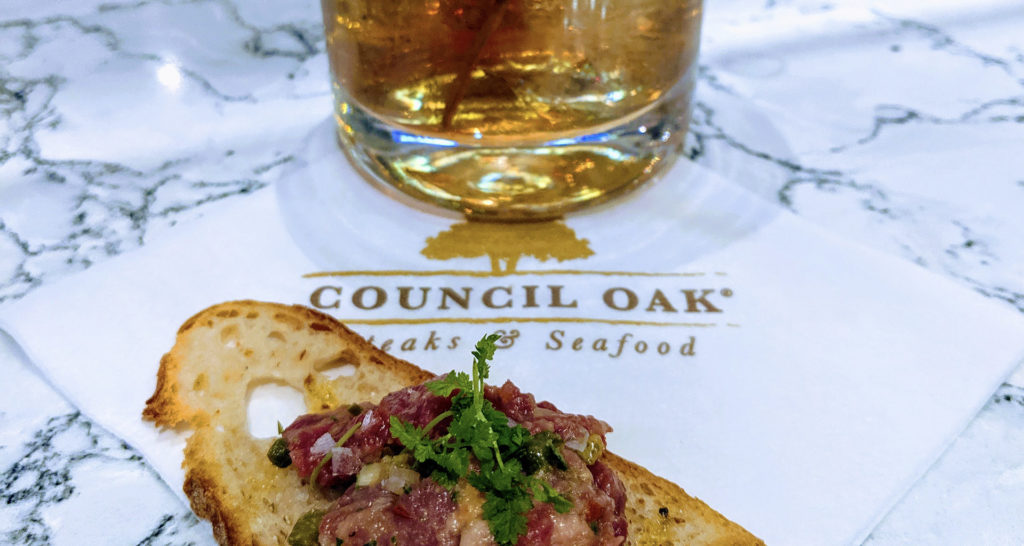 Cocktail and appetizer  available at Council Oak Steaks & Seafood at Hard Rock Sacramento