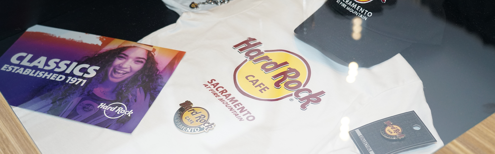 The famous Hard Rock Cafe t-shirt that started it all, available at Hard Rock Sacramento